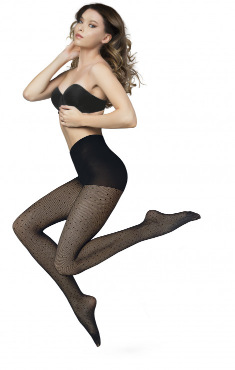 Sanpellegrino Studs polka dot tights
