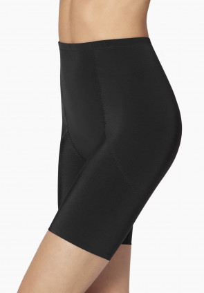 Long leg girdle in strong microfibre fabric