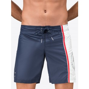 Bermuda Shorts With Detail In Contrasting Colour And Silver Logo