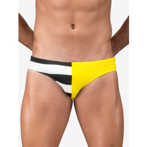 Lycra Briefs With Sides In Contrasting Colours