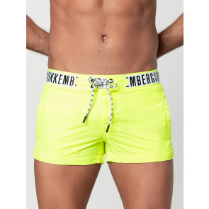 Extra short boxers in solid colour with classic logo tape