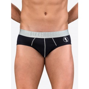 Stretch Jersey Boxer Briefs With Contrasting Silver Stitching And Jacquard Waistband With Hexagonal Pattern